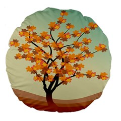 Branches Field Flora Forest Fruits Large 18  Premium Flano Round Cushions
