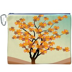 Branches Field Flora Forest Fruits Canvas Cosmetic Bag (xxxl)