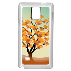 Branches Field Flora Forest Fruits Samsung Galaxy Note 4 Case (white)