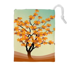 Branches Field Flora Forest Fruits Drawstring Pouches (extra Large)