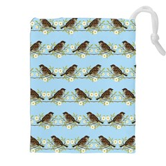 Sparrows Drawstring Pouches (xxl)