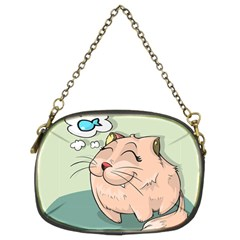 Cat Animal Fish Thinking Cute Pet Chain Purses (two Sides)