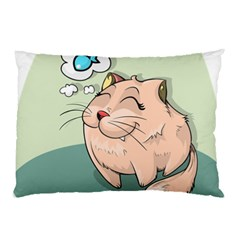 Cat Animal Fish Thinking Cute Pet Pillow Case