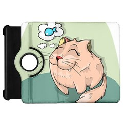 Cat Animal Fish Thinking Cute Pet Kindle Fire Hd 7