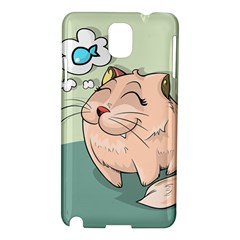 Cat Animal Fish Thinking Cute Pet Samsung Galaxy Note 3 N9005 Hardshell Case