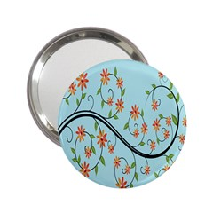Branch Floral Flourish Flower 2 25  Handbag Mirrors