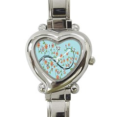 Branch Floral Flourish Flower Heart Italian Charm Watch
