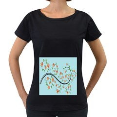 Branch Floral Flourish Flower Women s Loose Fit T Shirt (black)