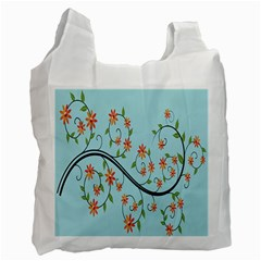 Branch Floral Flourish Flower Recycle Bag (two Side)