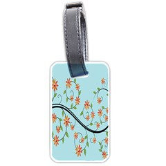 Branch Floral Flourish Flower Luggage Tags (one Side)