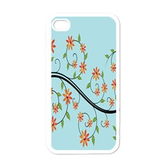 Branch Floral Flourish Flower Apple Iphone 4 Case (white)