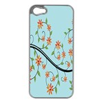 Branch Floral Flourish Flower Apple iPhone 5 Case (Silver) Front