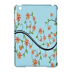 Branch Floral Flourish Flower Apple Ipad Mini Hardshell Case (compatible With Smart Cover)