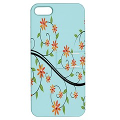Branch Floral Flourish Flower Apple Iphone 5 Hardshell Case With Stand