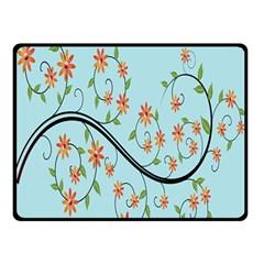 Branch Floral Flourish Flower Double Sided Fleece Blanket (small)
