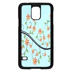 Branch Floral Flourish Flower Samsung Galaxy S5 Case (black)