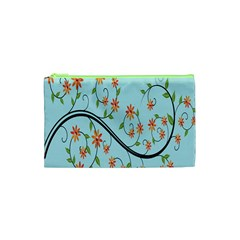 Branch Floral Flourish Flower Cosmetic Bag (xs)
