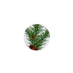 Branch Floral Green Nature Pine 1  Mini Buttons