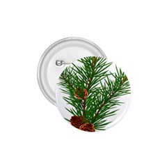 Branch Floral Green Nature Pine 1 75  Buttons