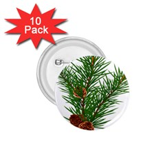 Branch Floral Green Nature Pine 1 75  Buttons (10 Pack)