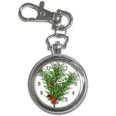 Branch Floral Green Nature Pine Key Chain Watches