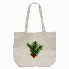 Branch Floral Green Nature Pine Tote Bag (cream)
