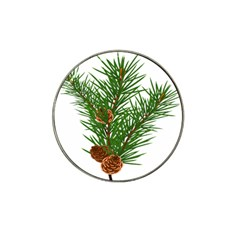 Branch Floral Green Nature Pine Hat Clip Ball Marker (10 Pack)