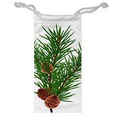 Branch Floral Green Nature Pine Jewelry Bag