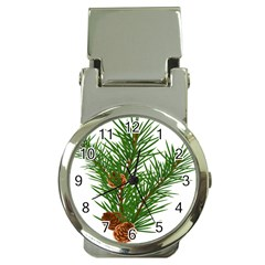 Branch Floral Green Nature Pine Money Clip Watches