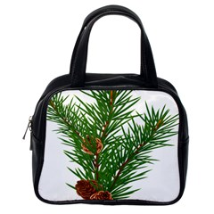 Branch Floral Green Nature Pine Classic Handbags (one Side)