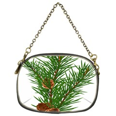 Branch Floral Green Nature Pine Chain Purses (one Side)