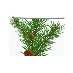 Branch Floral Green Nature Pine Cosmetic Bag (large)