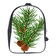 Branch Floral Green Nature Pine School Bags(large)