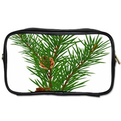 Branch Floral Green Nature Pine Toiletries Bags 2 Side