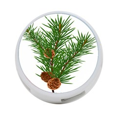 Branch Floral Green Nature Pine 4 Port Usb Hub (one Side)