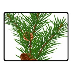 Branch Floral Green Nature Pine Fleece Blanket (small)