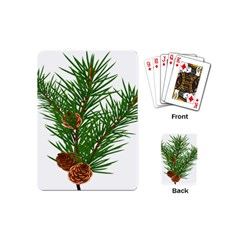 Branch Floral Green Nature Pine Playing Cards (mini)