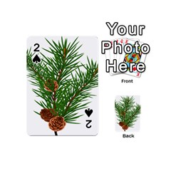 Branch Floral Green Nature Pine Playing Cards 54 (mini)