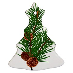 Branch Floral Green Nature Pine Ornament (christmas Tree)