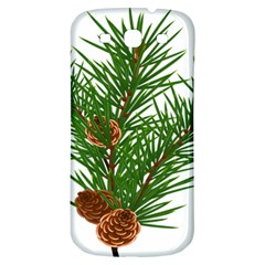Branch Floral Green Nature Pine Samsung Galaxy S3 S Iii Classic Hardshell Back Case