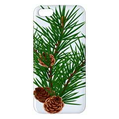 Branch Floral Green Nature Pine Apple Iphone 5 Premium Hardshell Case