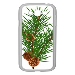 Branch Floral Green Nature Pine Samsung Galaxy Grand Duos I9082 Case (white)