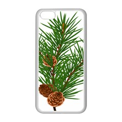 Branch Floral Green Nature Pine Apple Iphone 5c Seamless Case (white)