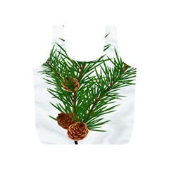 Branch Floral Green Nature Pine Full Print Recycle Bags (s)