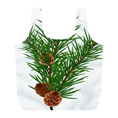 Branch Floral Green Nature Pine Full Print Recycle Bags (l)