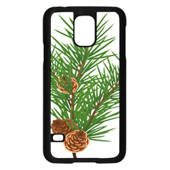 Branch Floral Green Nature Pine Samsung Galaxy S5 Case (black)