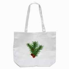 Branch Floral Green Nature Pine Tote Bag (white)