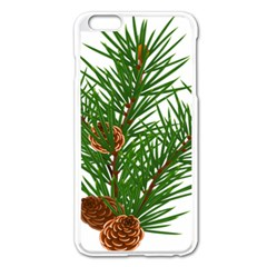 Branch Floral Green Nature Pine Apple Iphone 6 Plus/6s Plus Enamel White Case
