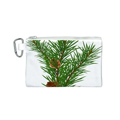 Branch Floral Green Nature Pine Canvas Cosmetic Bag (s)