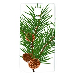 Branch Floral Green Nature Pine Galaxy Note 4 Back Case